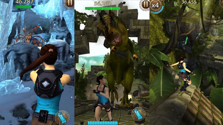 Lara Croft Relic Run - Boss fights